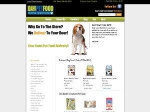 pet food e-commerce website