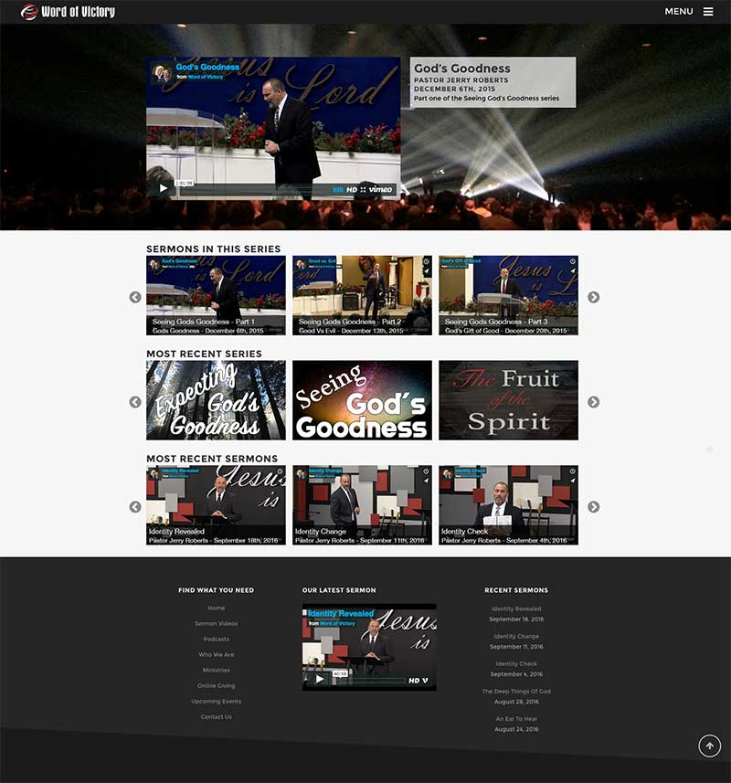 church website development