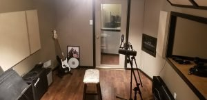 instrument room in recording studio