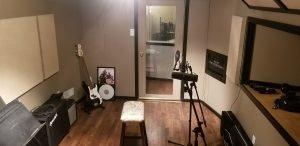 instrument room in recording studio