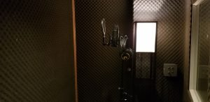 vocal booth in studio